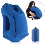 Review Comfortable Bolster Car Pillows For Sleeping Bedding Inflatable Travel Pillow For Airplanes Camping Office Multifunction Air Desk Neck Pillow With Full Body Chin Head Support Blue Intl China