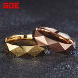 Brand New Cool 18 K Cool Men Tungsten Gold Gold Plated Ring