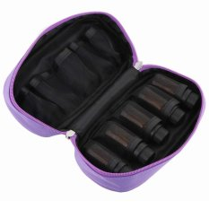 Discount Cosmetic Bag For Traveling Sturdy Double Zipper Essential Oil Carrying Case Holds 10 Bottles For 5Ml 10Ml And 15Ml Purple Oem China