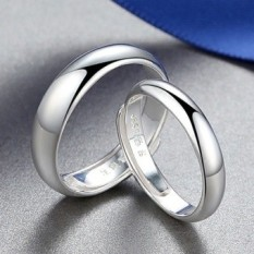 Review Couple Ring One Pair Of 999 Sterling Silver Men And Women Live Mouth Korean Style Opening Student Lettering Japan And South Korea Minimalist Fine Silver Ring On The Ring Intl China