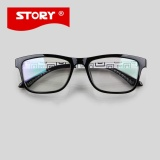 Great Deal Crystal Story Dropshipping 2016 New Fashion Framed Glasses Square Plain Glass Spectacles Glases Frames Oculos De Grau Femininos Intl