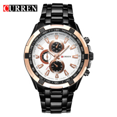 Who Sells Curren 8023 Men Watches Quartz Watch Waterproof Black White Gold Cheap