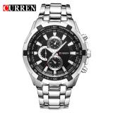 Brand New Curren 8023 Men Watches Quartz Watch Waterproof Silver Black