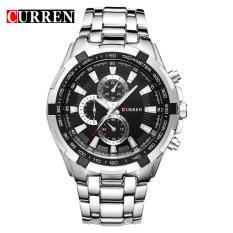 Curren 8023 Men Watches Quartz Watch Waterproof Silver Black Compare Prices