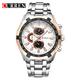 Price Comparison For Curren 8023 Men Watches Quartz Watch Waterproof Silver Gold