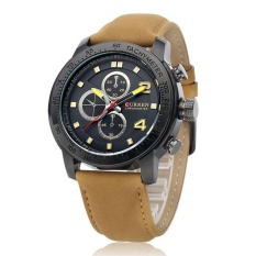 Price Curren 8190 Men S Sports Casual Quartz Watches Men Gifts Leather Strap Wristwatch Black Black Intl Online China