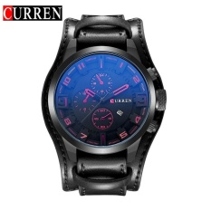 Sales Price Curren 8225 Original Brand Men S Sports Round Analog Wrist Watch Faux Leather Band Date Watch For Men Intl