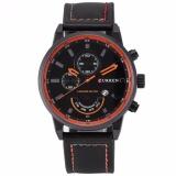 Buy Curren Fashion Men Sports Date Analog Quartz Leather Wrist Watch Cur117 Intl On China