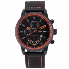 Curren Fashion Men Sports Date Analog Quartz Leather Wrist Watch Cur117 Intl Sale