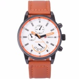 Curren Fashion Men S Quartz Wrist Watch Dress Leather Brown Band Sports Date Analog Cur119 Intl Compare Prices