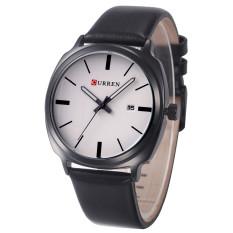 Cheapest Curren Men Calendar Casua Genuine Leather Quartz Watch Multicolor Online