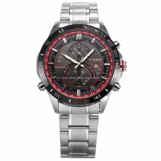 Price Compare Curren Men S Analog Date Display Silver Stainless Steel Band Sport Quartz Wrist Watch Cur042 Intl
