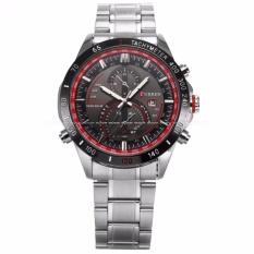Discounted Curren Men S Analog Date Display Silver Stainless Steel Band Sport Quartz Wrist Watch Cur042 Intl