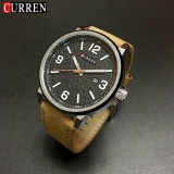 Review Curren Men S Fashion Sports Quartz Watches Mens Watches Leather Wristwatches 8218 Light Brown Silver Black Intl China