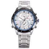 Recent Curren New Fashion Design Men S White Blue Date Display Sport Steel Band Quartz Wrist Watch Cur040 Intl