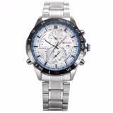 Purchase Curren New Fashion Design Men S White Blue Date Display Sport Steel Band Quartz Wrist Watch Cur040 Intl Online