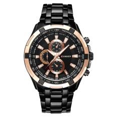 Curren Quartz Watch Men Fashion Casual Men S Wrist Watches Waterproof Full Steel Wristwatch 8023 Oeiginal Black Intl Best Price