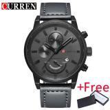 Best Deal Curren Watch For Men Brand Quartz Watch Men S Round Dial Analog Watch With Date Display 8217
