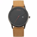 Price Dalas Fashion Mens Quartz Analog Military White Sport Wrist Watch Synthetic Brown Leather Band Waa943 Intl Online Singapore