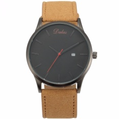 Sale Dalas Fashion Mens Quartz Analog Military White Sport Wrist Watch Synthetic Brown Leather Band Waa943 Intl Dalas Branded