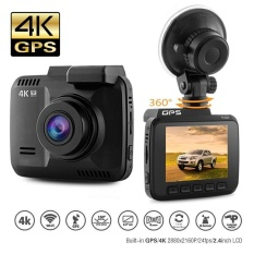 Dash Cam Car DVR Dashboard Camera Recorder with 4K FHD, Built-In WiFi & GPS, APP Support, G-Sensor, 2.4 LCD, 150 Degree Wide-Angle Lens, Loop Recording, ...