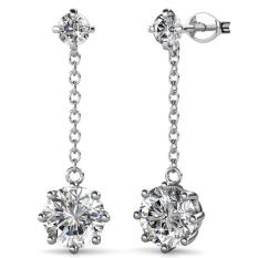 Sale Dazzling Jane Earrings Crystals From Swarovski® Singapore Cheap