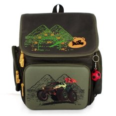 Delune Children School Bag Boy Kids Students Travel Backpack - intl