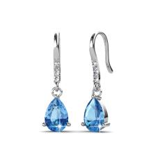 Best Deal Dew Drop Earrings Blue Crystals From Swarovski®