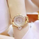 How Do I Get Diamonds Fashion Casual Women Quartz Watch Luxury Gold Stainless Steel Brand Rhinestone Dress Lady Watch Gold Intl