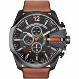 Sale Diesel Dz4343 Mega Chief Black Dial Brown Leather Men S Quartz Watch Online Singapore
