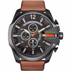 Cheap Diesel Dz4343 Mega Chief Black Dial Brown Leather Men S Quartz Watch