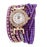 Duoya Women Brand Crystal Rhinestone Bracelet Dress Watch Purple Intl Price Comparison