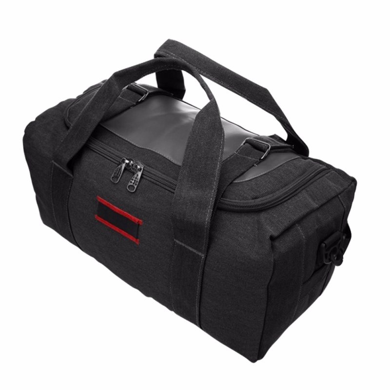 Durable Large Capacity Canvas Travel Duffle Bag Sports Gym Camping Oversized Shoulder Bag Tote Handbag Weekender bags for Men and Women Folable - intl
