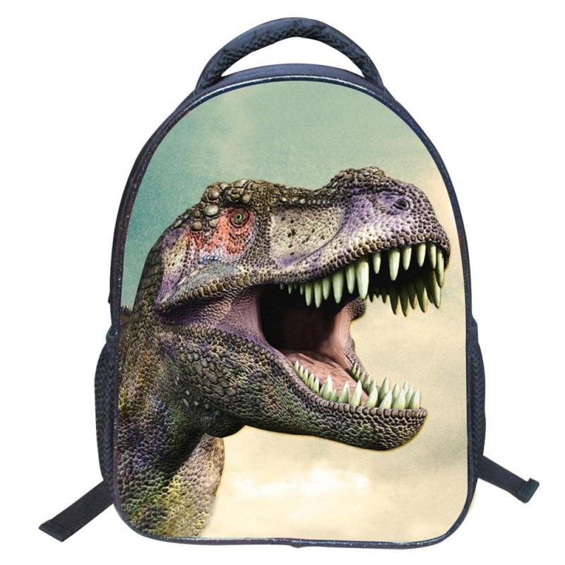 Eachgo 3D Cute Dinosaur School Bag Animal Design Children Anti-lost Backpack - intl