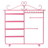 Deals For Earrings Necklace Jewelry Display Rack Metal Stand Holder Pink Intl