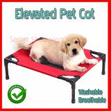 How To Buy Elevated Pet Bed Cot With Fabric And Cot Raise Your Pet From The Floor Small Red