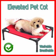 Price Elevated Pet Bed Cot With Fabric And Cot Raise Your Pet From The Floor Small Red Singapore