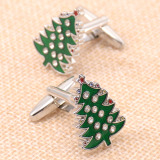 Review Christmas Tree Holiday Gift Cufflinks French Shirt Cuff Nail Oem On China