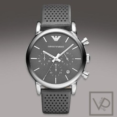 Price Comparisons Emporio Armani Ar1735 Men S Grey Leather Strap Watch Ar1735