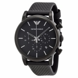 Purchase Emporio Armani Classic Chronograph Men S Black Dial Black Leather Watch Ar1737 Online