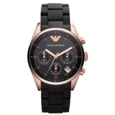 Buy Emporio Armani Ladies Sportivo Chronograph Silicone Strap Watch Ar5906