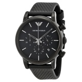 Store Emporio Armani Men S Black Dial Black Leather Watch Ar1737 Emporio Armani On Singapore