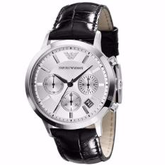 Emporio Armani Mens Chronograph Black Leather Strap Watch Ar2432 By Vogueplay.
