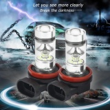 New Era 2Pcs 100W H11 H8 8000K Led Light Bulbs Blue Light Bulbs Car Front Fog Lamps Intl