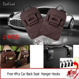 Lowest Price Esogoal 2 Psc Car Backseat Organizer Pu Leather Auto Back Car Seat Organizer Holder Pocket Storage Kick Mats With 4 Hooks Brown Intl