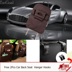 Buy Esogoal Car Backseat Organizer Pu Leather Auto Back Car Seat Organizer Holder Pocket Storage Kick Mats With 2 Hooks Brown Intl Cheap China