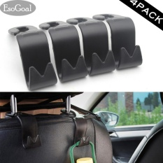 Esogoal Car Vehicle Back Seat Headrest Organizer Hanger Storage Hook For Groceries Bag Handbag (black -4pack) - Intl By Esogoal.
