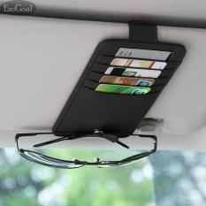 Esogoal Pu Leather Car Sun Visor Organizer Storage With Ticket Card Sunglass Storage Holder Bag Pouch Card Holder Credit Card For Auto Vehicle Truck Suv(black) - Intl By Esogoal.