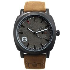 ETOP Army Military Mens Watches Leather Strap Quartz Watch Wrist Watch  (Black) ff31b30214
