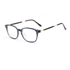 Retail Fashion Glasses Frame Rectangle Glasses Blue Frame Glasses Plastic Frames Plain For Myopia Men Eyeglasses Optical Frame Glasses Intl